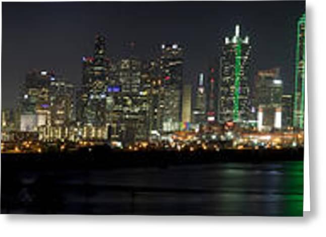 Panoramic Downtown Dallas, Texas Greeting Card
