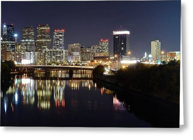 Panoramic Philadelphia Greeting Card