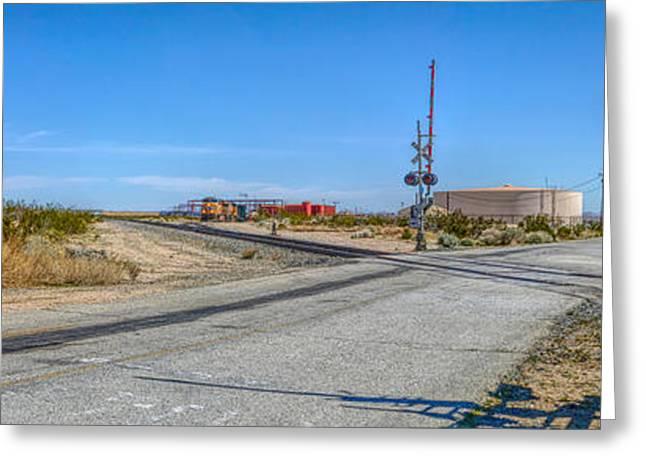 Panoramic Railway Signal Greeting Card