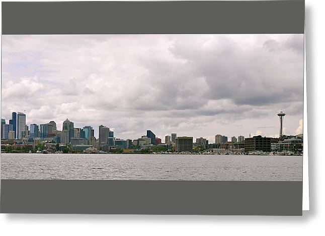 Panoramic Seattle Greeting Card