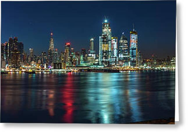 Panoramic Skyline-manhattan Greeting Card