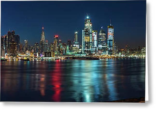 Panoramic Skyline-manhattan Greeting Card