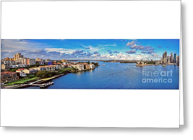 Panoramic Sydney Harbour 2 Greeting Card