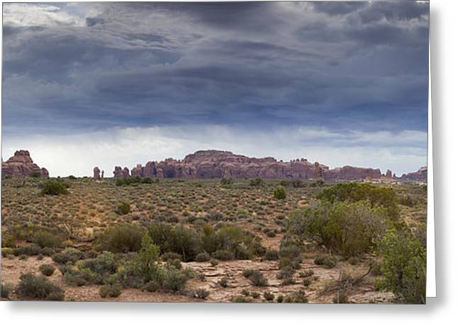 Panoramic View At Arches National Park Greeting Card