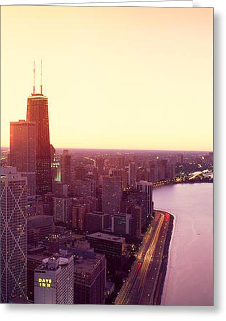 Panoramic View Of Chicago Skyline Greeting Card by Panoramic Images