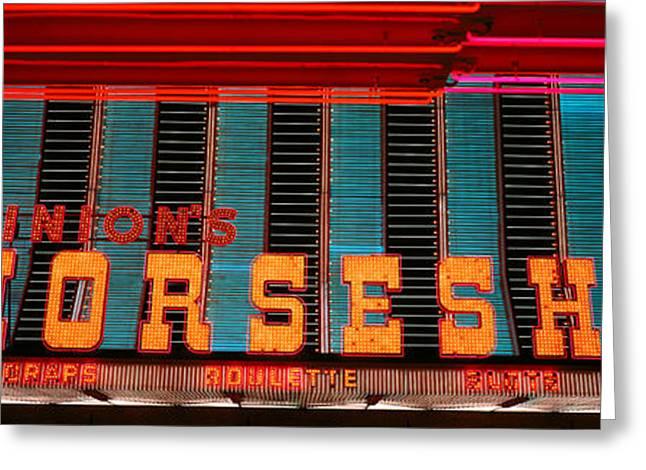 Panoramic View Of Horseshoe Casino Greeting Card