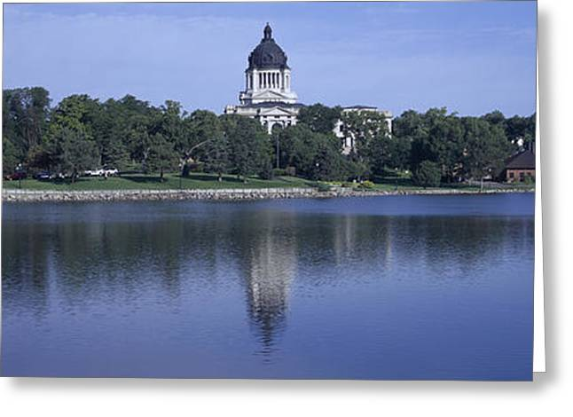 Panoramic View Of Lake With View Greeting Card by Panoramic Images