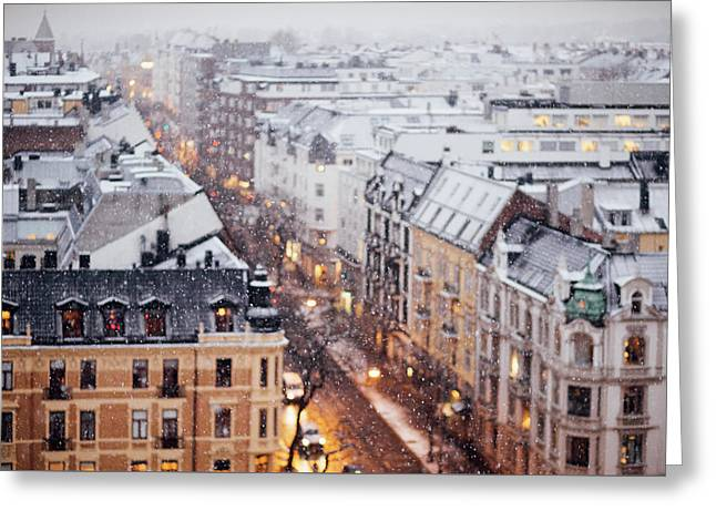 Panoramic View Of Oslo Greeting Card