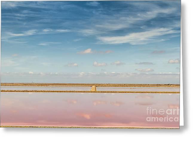 Panoramic View Of Saline Drip - Salin De Giraud Greeting Card by Pier Giorgio Mariani