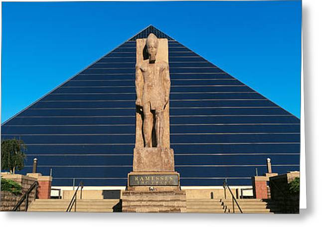 Panoramic View Of Statue Of Ramses Greeting Card by Panoramic Images