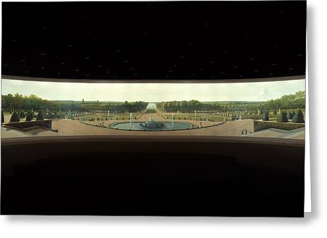 Panoramic View Of The Palace And Gardens Of Versailles Greeting Card
