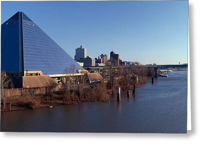 Tennessee River Greeting Cards - Panoramic View Of The Pyramid Sports Greeting Card by Panoramic Images