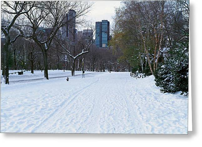 Panoramic View Of Walker In Central Greeting Card by Panoramic Images