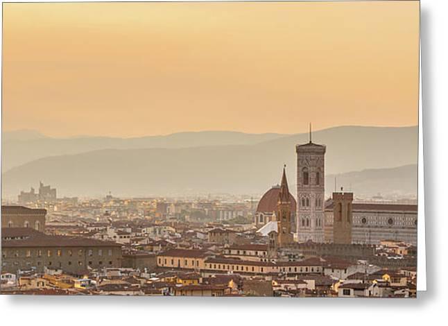 Panorama Of Florence Greeting Card