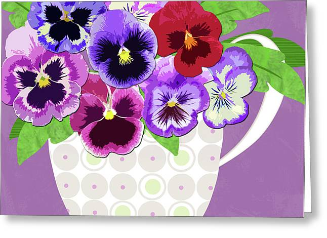 Pansies Stand For Thoughts Greeting Card
