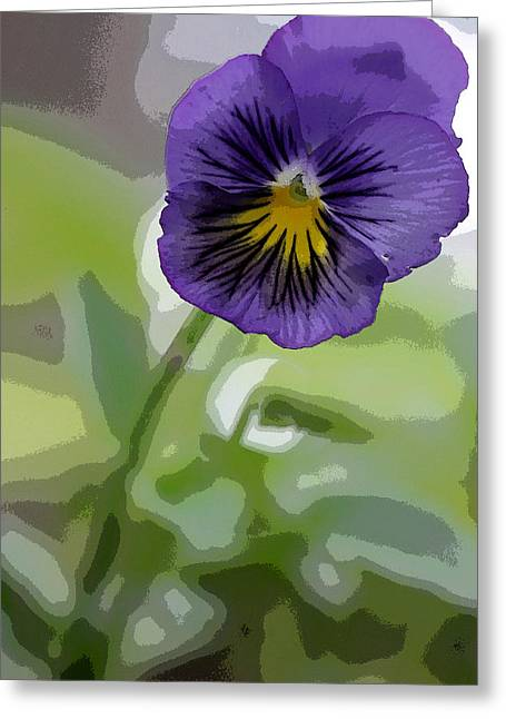 Pansy Greeting Card by David Bearden