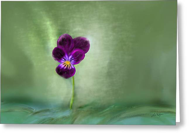 Pansy Greeting Card by Lisa Redfern