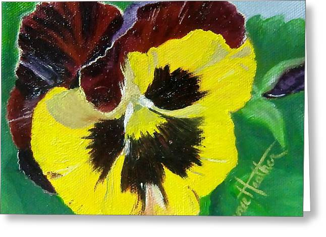 Pansy No. Ten Greeting Card