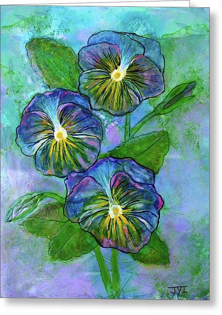Pansy On Water Greeting Card