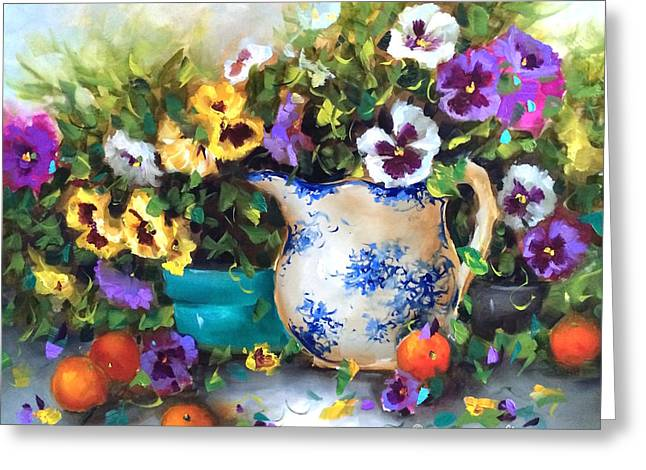 Pansy Panoply Greeting Card