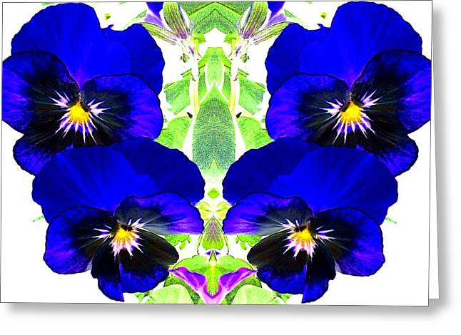 Greeting Card featuring the photograph Pansy Pattern by Marianne Dow