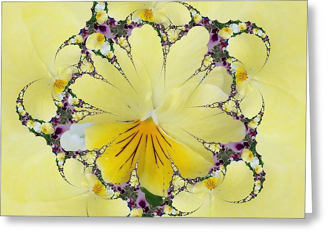 Pansy Swirls Greeting Card