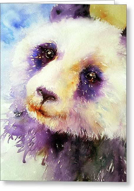 Pansy The Giant Panda Greeting Card