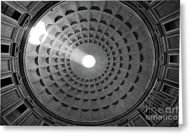 Pantheon Ceiling Greeting Card by Inge Johnsson