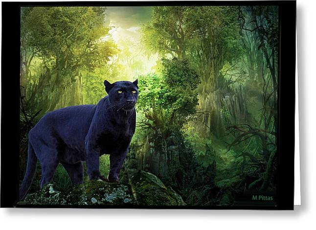 Panther Alert Greeting Card