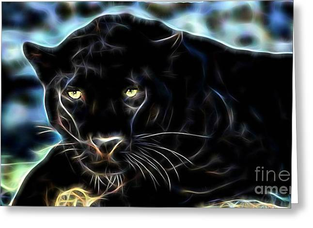 Panther Collection Greeting Card by Marvin Blaine