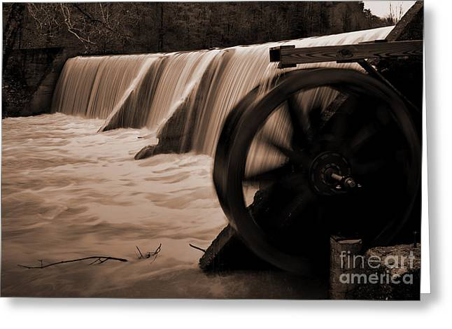 Panther Valley Water Wheel Greeting Card by Fred Lassmann