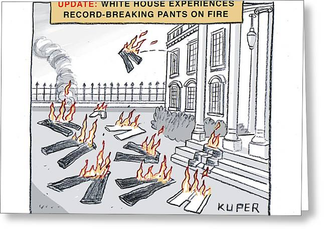 Pants On Fire Greeting Card