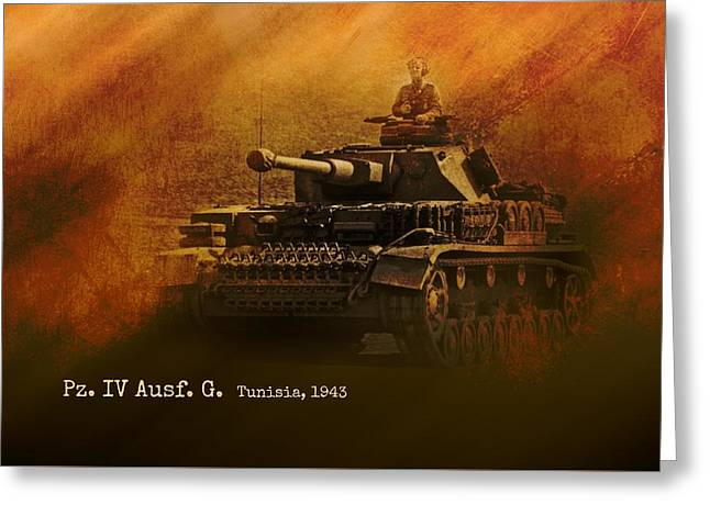 Greeting Card featuring the digital art Panzer 4 Ausf G by John Wills