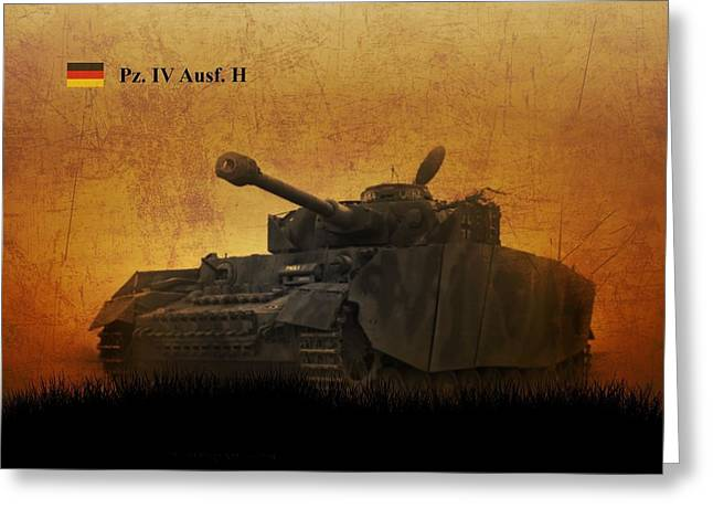 Greeting Card featuring the digital art Panzer 4 Ausf H by John Wills