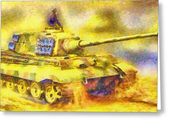 Panzer Tiger 2 - Pa Greeting Card by Leonardo Digenio