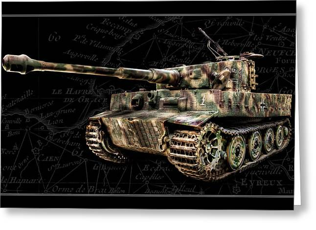 Panzer Tiger I Side Bk Bg Greeting Card