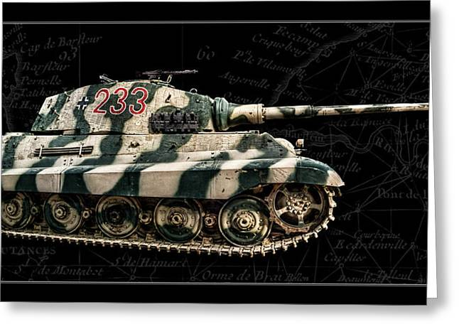 Panzer Tiger II Side Bk Bg Greeting Card