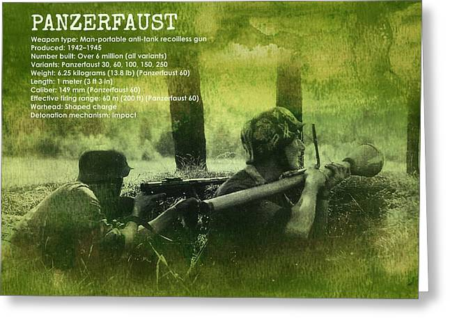 Greeting Card featuring the digital art Panzerfaust In Action by John Wills