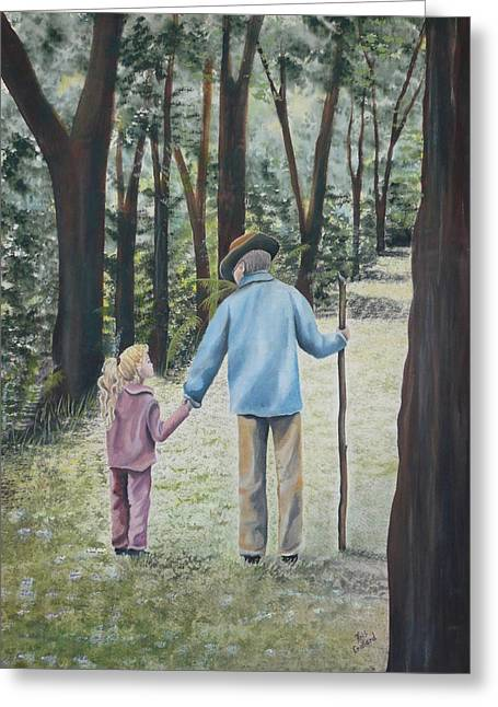 Grandfathers Greeting Cards - Papa Greeting Card by Kris Crollard