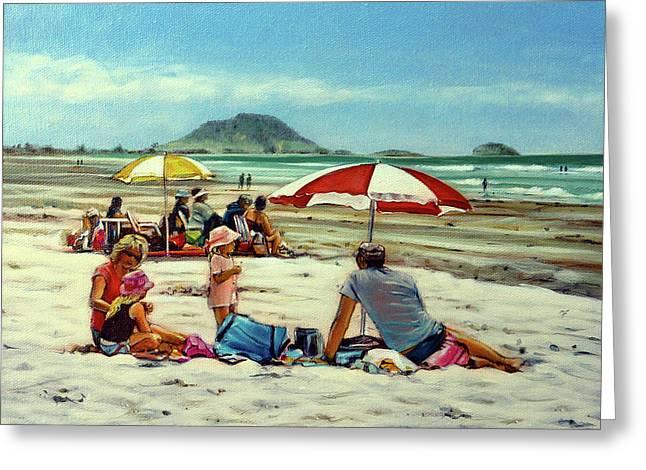 Papamoa Beach 150309 Greeting Card