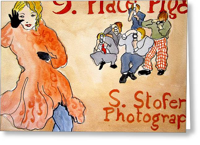 Paparazzi Greeting Card by Suzanne Stofer