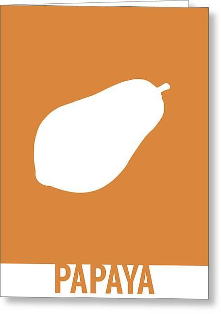 Papaya Food Art Minimalist Fruit Poster Series 017 Greeting Card