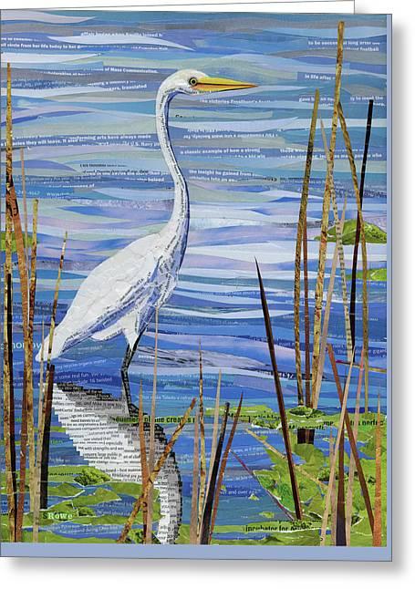 Paper Crane Greeting Card by Shawna Rowe