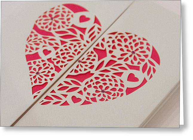 Paper Cut Heart Greeting Card