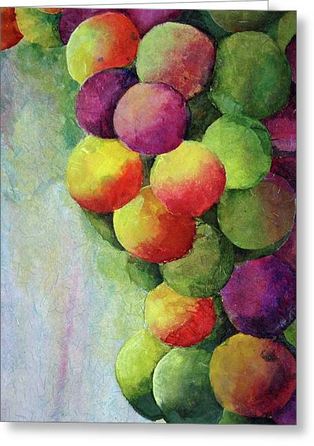 Paper Grapes Greeting Card