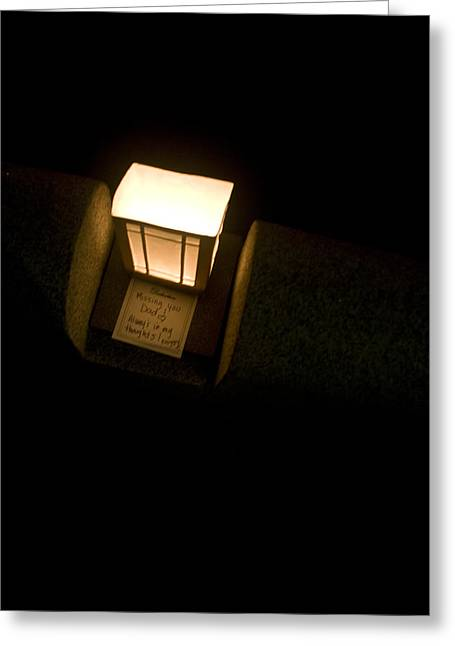 Latern Greeting Cards - Paper Latern Greeting Card by Jeff Porter