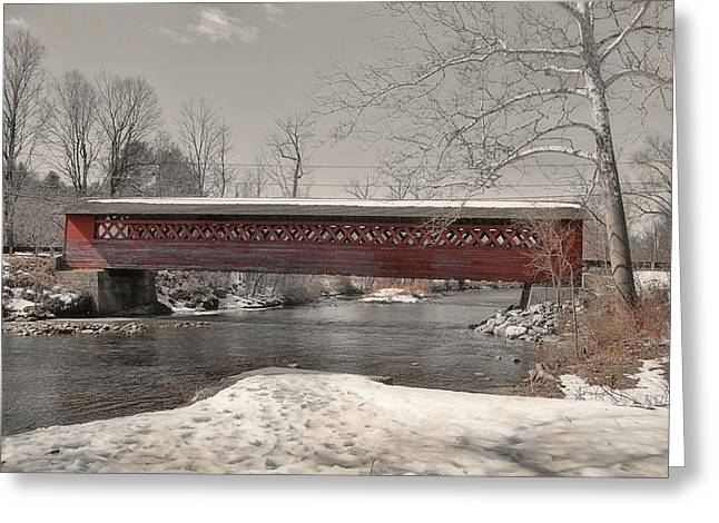 Paper Mill Village Bridge Greeting Card by JAMART Photography