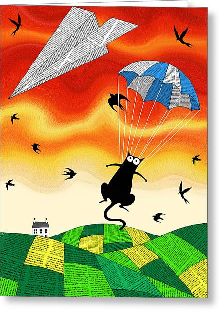 Paper Plane  Greeting Card by Andrew Hitchen