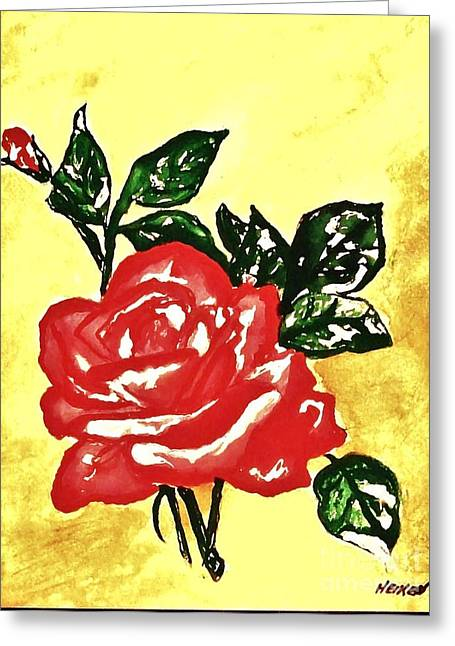 Paper Roses Ll Greeting Card