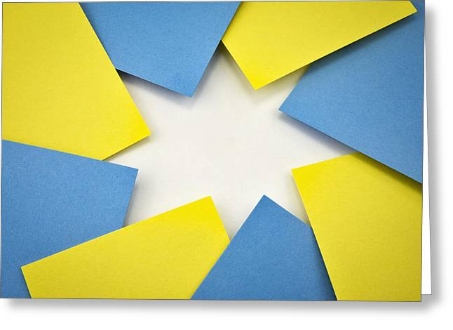 Paper Stars Composition Greeting Card by Jozef Jankola